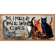 Cat Wood Signs -Cat Decor- GS 643XX- Cat Plaque -Gigglesticks