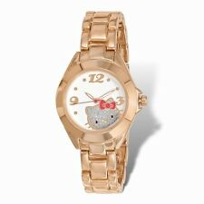 OFFICIALLY LICENSED HELLO KITTY WHITE DIAL ROSE GOLD-TONE ALLOY  WATCH