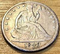 1849 O & 1854 O Silver Seated Liberty Half Dollar Lot