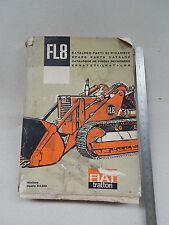 CATALOGO PARTI DI RICAMBIO CINGOLATO TRATTORE FIAT FL8 SOLO CARICATORE 1963