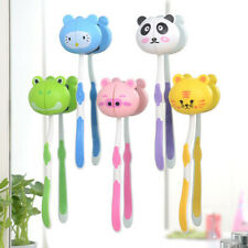 Lovely Multicolor Cartoon Animal Head Toothbrush Holder Stand Cup Mount Suction