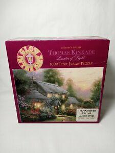 Thomas Kincaid 1000 Piece Jigsaw Puzzle Julianne's Cottage Glow In The Dark