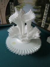 Fenton Silver Crest set of 5 pieces,Epergne, bowl & cake plate[a*5]