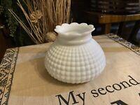 Vintage Hobnob White Milk Glass Light Globe Ceiling Shade