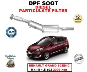 DPF DIESEL SOOT PARTICULATE FILTER for RENAULT GRAND SCENIC III 1.5 dCi 2009->on