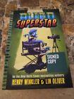 Signed Henry Winkler Alien Superstar Book W/ Lin Oliver HB The Fonz Happy Days 3