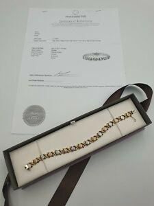 Michael Hill 10K Yellow, White & Rose Gold Bracelet 19cm Hugs & Kisses