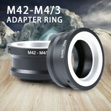 M42 Mount Lens To Micro 4/3 M4/3 MFT Adapter Ring Olympus Panasonic Pen Lumix G