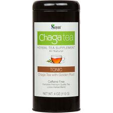 Siberian Chaga Mushroom Premium Loose tea with Golden Root 4oz 113g extract+ raw