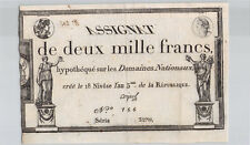 Assignat 2000 Francs 18 Nivôse An 3 Série 3270 n° 166 Pick A81
