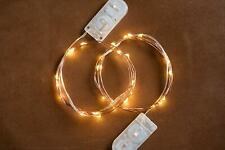 2 Pack Radiance LED String Lights 6 ft Copper Wire Warm White Battery Powered