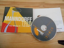 CD JAZZ manndorff TRIO-you break it-you own it (10) canzone EmArcy UNIVERSALE
