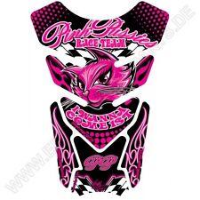 Motografix Pink Pussies I Wanna Come First Black Pink 3D Gel Tank Pad ST085K