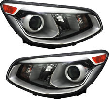 Halogen Projector Headlights Assembly NEW Pair Set for 214 2015 2016 Kia Soul