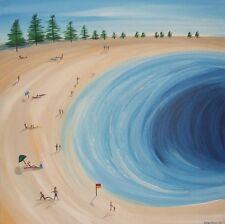 """""""MOOLOOLABA"""" ABSTRACT BEACH SEASCAPE PAINTING by *STEPHANIE* 60.9cm x 60.9cm"""