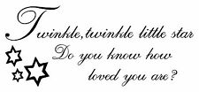 """32"""" TWINKLE LITTLE STAR LETTERING QUOTES DECAL STICKER WALL ART"""