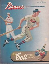 1951 Boston Braves Program vs Brooklyn Dodgers Scorecard Scored Correctly