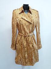 Edle LUXUS Escada Couture Mantel curry braun gold Gürtel snake 42/44 NP1280 COAT