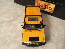 Maisto 1/27 2003 Yellow Hummer H2 Sport Utility Vehicle (SUV) Front Doors Open