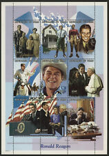 Chad 789 MNH Ronald Reagan, Pope John Paul II, Horse, Flags