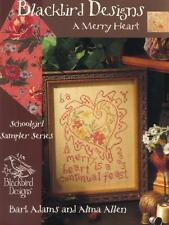 BLACKBIRD DESIGNS A MERRY HEART CROSS STITCH SAMPLER SCHOOLGIRL SERIES CHART OOP