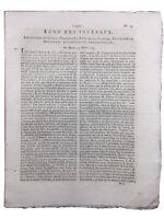 Rare Journal Révolution Française 1792 L'Echo des Journaux Roi Louis 16
