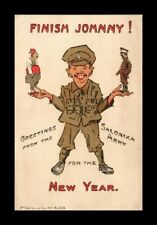 DR JIM STAMPS  POSTCARD WWI HUMOR NEW YEAR SALONIKA ARMY
