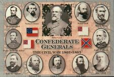 Confederate Generals Robert E. Lee Legends in Gray - Military Civil War Postcard