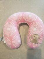 Baby Girl Carter's Head Neck Support Headrest Travel Car Seat Pillow Pink monkey