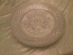 Cris D'Arques Durand Antique Crystal Glass Luncheon Salad Plates (4)