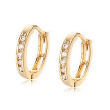 Crystal hoop earrings 18K  earings Yellow Gold Plate Wholesale Jewelry Lot