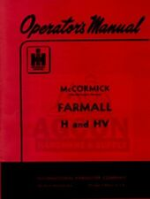 FARMALL H & HV Tractor Owners Operator Manual