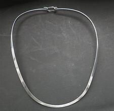 "4mm 18"" 925 Sterling Silver U Shape W/Clasp  Choke/Collar/Necklace Jewelry"
