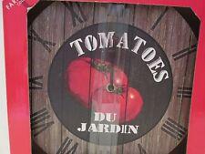 Tomatoes Du Jardin Wall Clock, Roman Numerals, Battery Operated, NIB