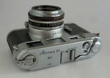 Aires 35 III C 35mm Rangefinder Camera Coral 4.5cm f2.4 Lens EXC Cosmetics AS IS