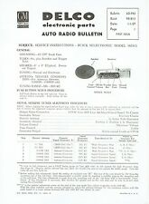 GM Delco 1957 Buick Wonderbar Radio 981813 Service and Parts Bulletin