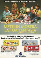 X7263 Clementoni - Metti in mostra la tua fantasia - Pubblicità 1991 - Advertis.