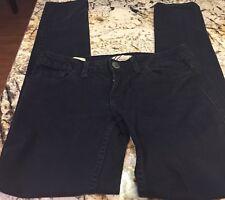 Womens WILLIAM RAST JERRI Jeans Low Rise Ultra Skinny Black Denim Pants 25