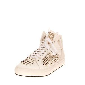 RRP €670 PHILIPP PLEIN JUGGERNAUT Leather Sneakers EU46 UK12 US13 Made in Italy