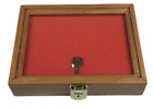 Cherry Wood Display Case 7 1/2 x 9 1/2 x 2 for Arrowheads Knifes Collectibles