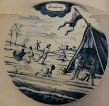 """DELFT HOLLAND METROPOLITAN MUSEUM OF ART MONTH OF YEAR JANUARY PLATE 9"""" MMA 1rst"""