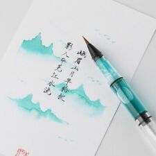 Transparent Calligraphy Brush Fountain Pen Style Creative Soft Brown Weasel Hair