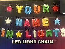 ANY NAME IN LIGHTS // LED Light Chain - Up to 8 letters/Numbers