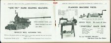 1930s Garage tools trade catalogue. Well illustrated.  J,Carr of London.