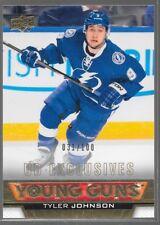 13/14 Upper Deck Young Guns Exclusives Rookie Tyler Johnson /100 492 Lightning