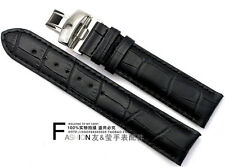19mm Black Leather Watch Band with Buckle For 19mm T17 T461 PRC200 T014 T41
