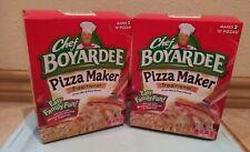 2 CHEF BOYARDEE TRADITIONAL PIZZA KIT MAKER Crust, Mix & Sauce Makes 4 Pizzas