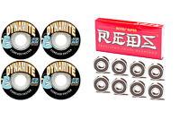 Dynamite Forever 54mm Skateboard Wheels + Bones SUPER Reds Bearings
