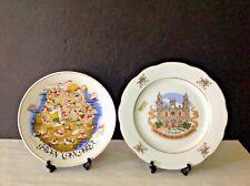 VTG Two Gran Canaria Island Landmarks & Las Palmas Cathedral Spain Ceramic Plate