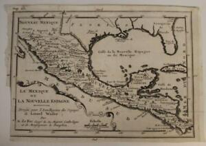 MEXICO 1712 NICOLAS DE FER UNUSUAL ANTIQUE ORIIGNAL COPPER ENGRAVED MAP
